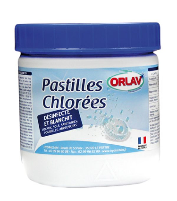 Pastilles Chlorées effervescentes pour le nettoyage du linge