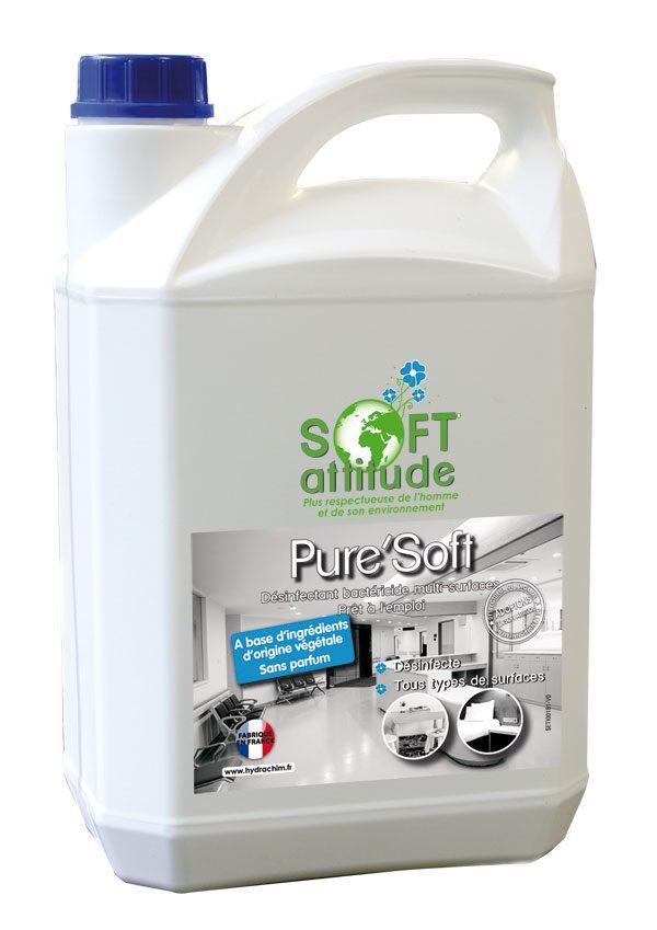 Produit nettoyant désinfectant bactéricide multi-surfaces - Pure'Soft