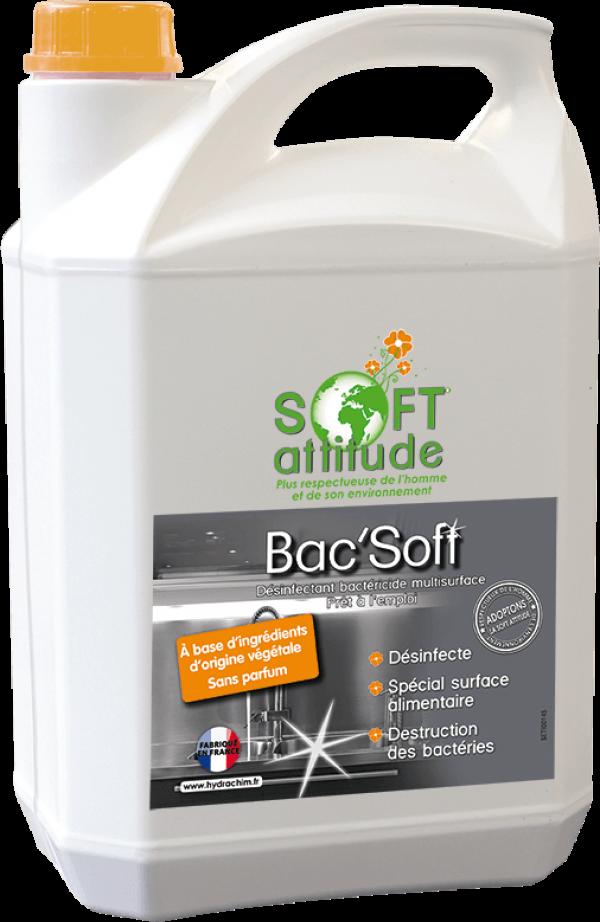 Produit désinfectant et bactéricide des surfaces alimentaires - Bac'Soft