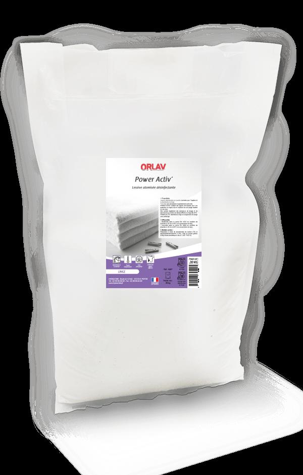 Lessive désinfectante en poudre - POWER ACTIV'