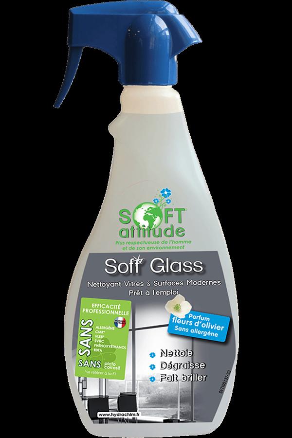 Produit spray nettoyant vitres et surfaces - Soft'Glass