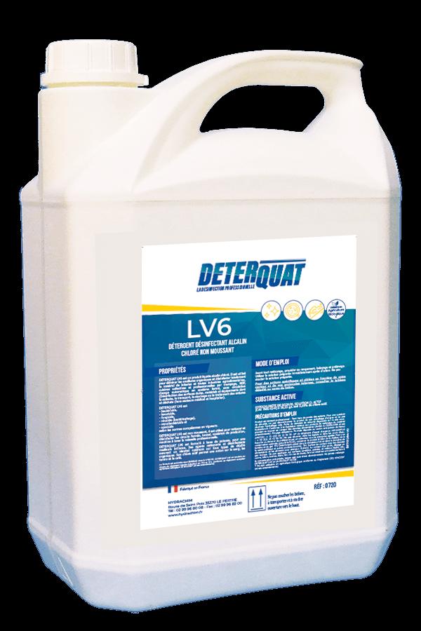 Désinfectant et nettoyant alcalin chloré - LV6