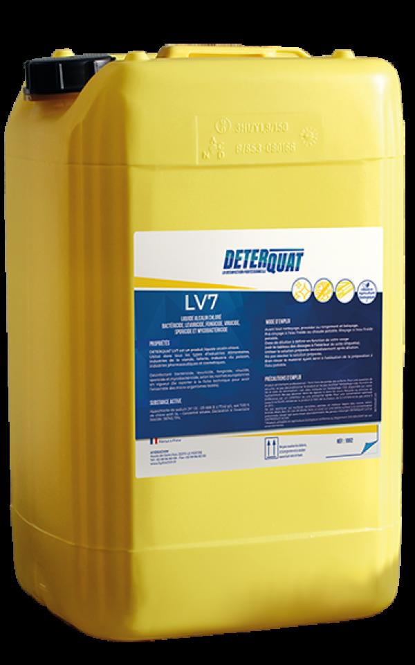 Détergent désinfectant alcalin chloré - LV7
