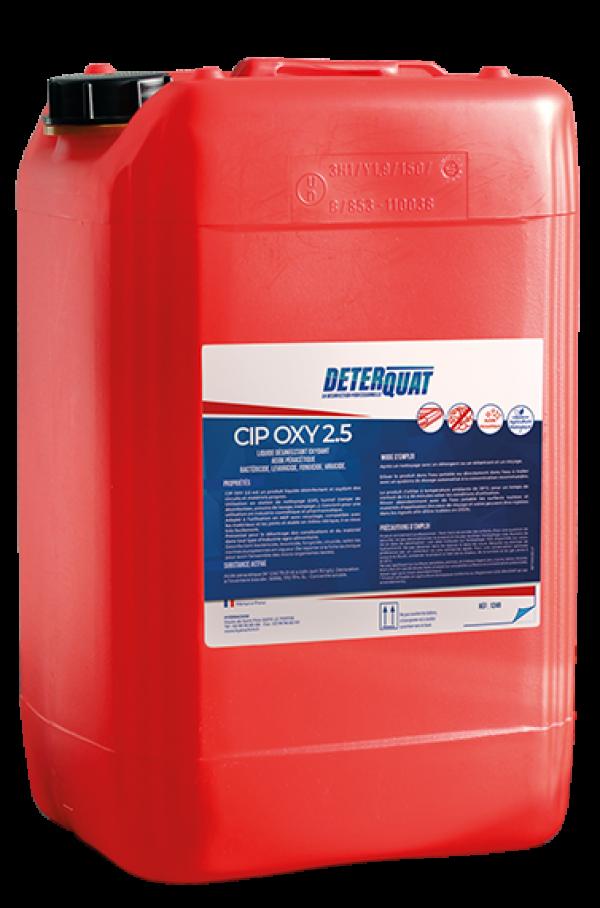 Désinfectant circuits et matériels propres - CIP OXY 2.5