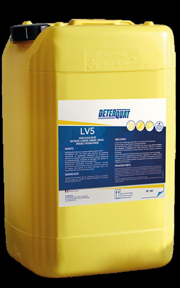 Détergent désinfectant alcalin chloré - LV5