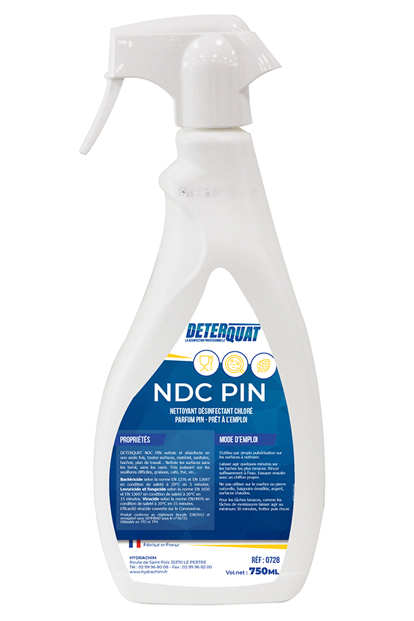 Désinfectant nettoyant sans rayures - NDC PIN