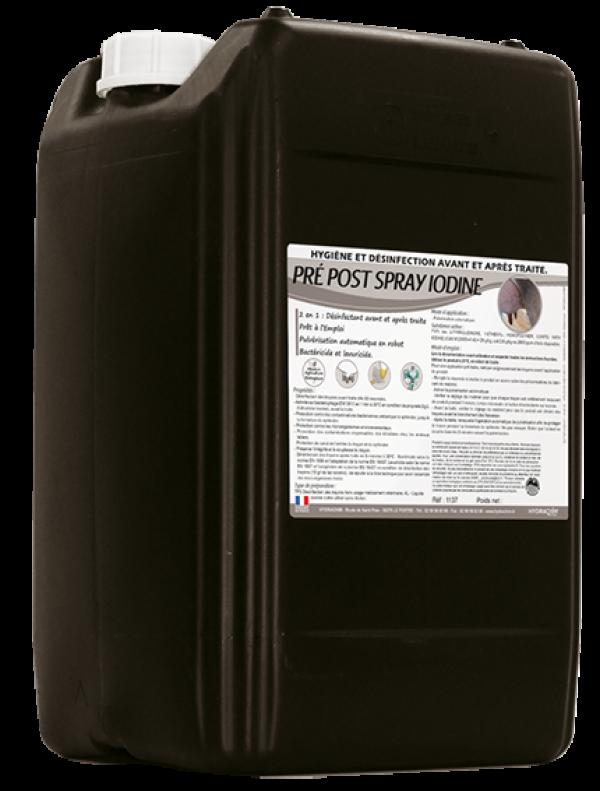 Pré Post Spray Iodine - Produit désinfectant pour les robots de traite