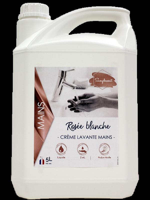 Rosée blanche - Crème nacrée pour le lavage des mains à la vanille