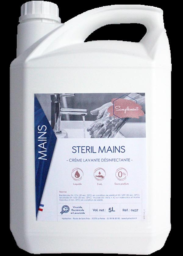 Steril mains - Crème lavante virucide, bactéricide, levuricide