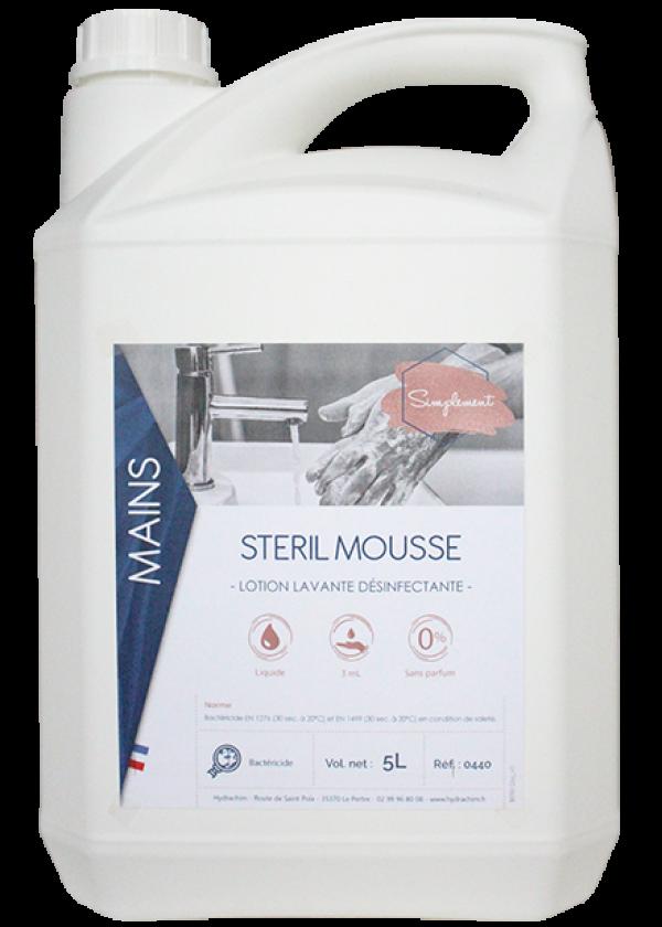 Steril mousse - Liquide moussant et désinfectant pour les mains