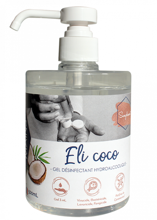 Eli coco - Gel hydroalcoolique au parfum de coco